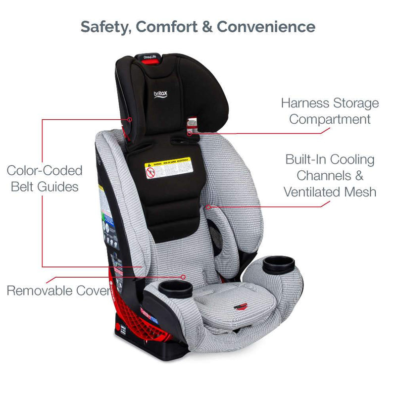 Britax One4Life Clean Comfort Car Seat with Anti-Rebound Bar - Tadpole