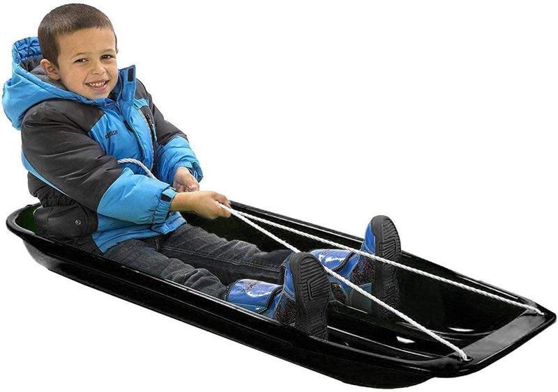 "Classic Downhill Toboggan Snow Sled Includes Pull Rope and Handles (35"") - Tadpole"