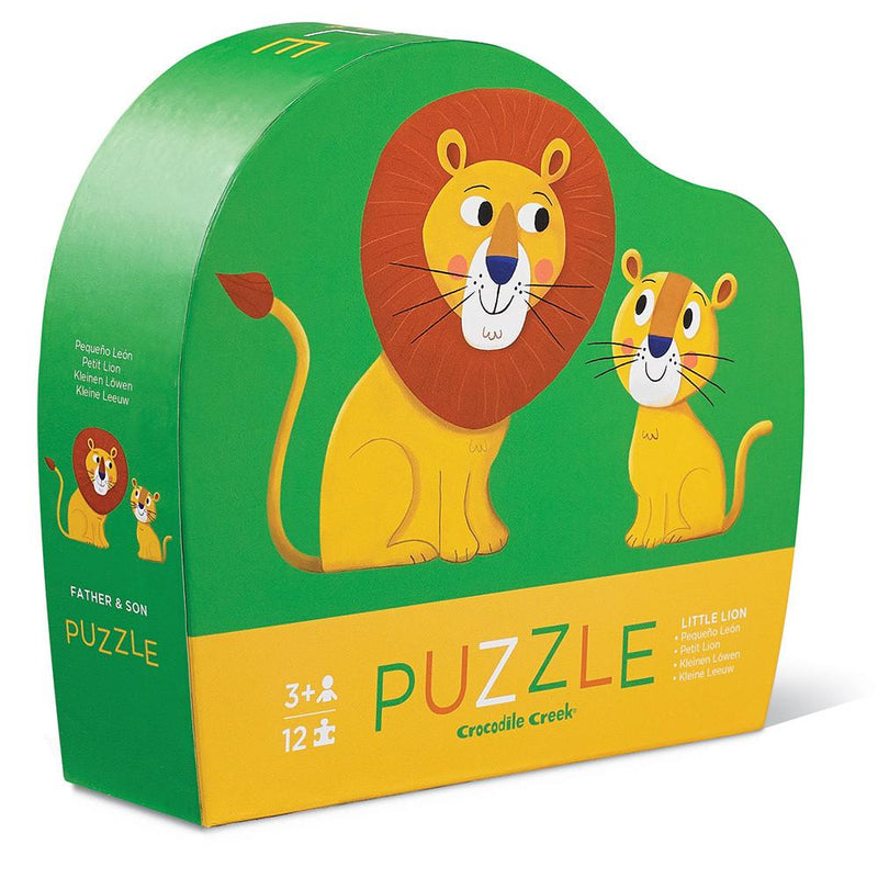 Crocodile Creek 12-Piece Puzzle Little Lion - Tadpole