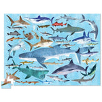 Crocodile Creek 36 Animals Puzzle Sharks (100 Pieces) - Tadpole