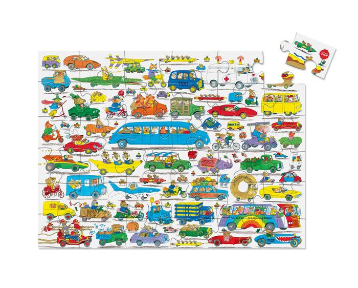Crocodile Creek 36-Piece Puzzle Richard Scarry Cars & Trucks & Things That Go - Tadpole
