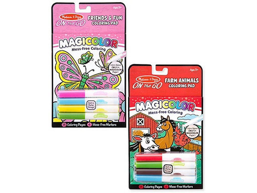 Melissa & Doug Magic Coloring Pad - Friend & Fun