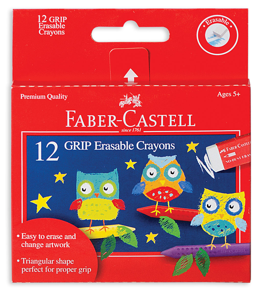 Faber-Castell Grip Erasable Crayons