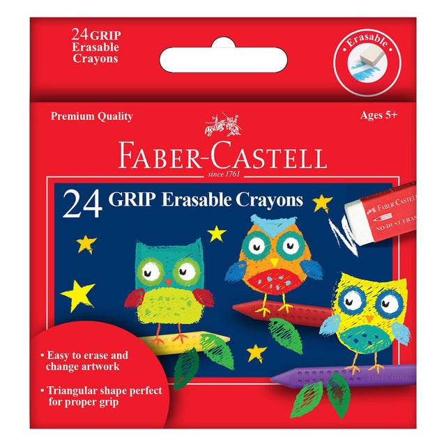 Faber-Castell 12 Grip Erasable Crayons