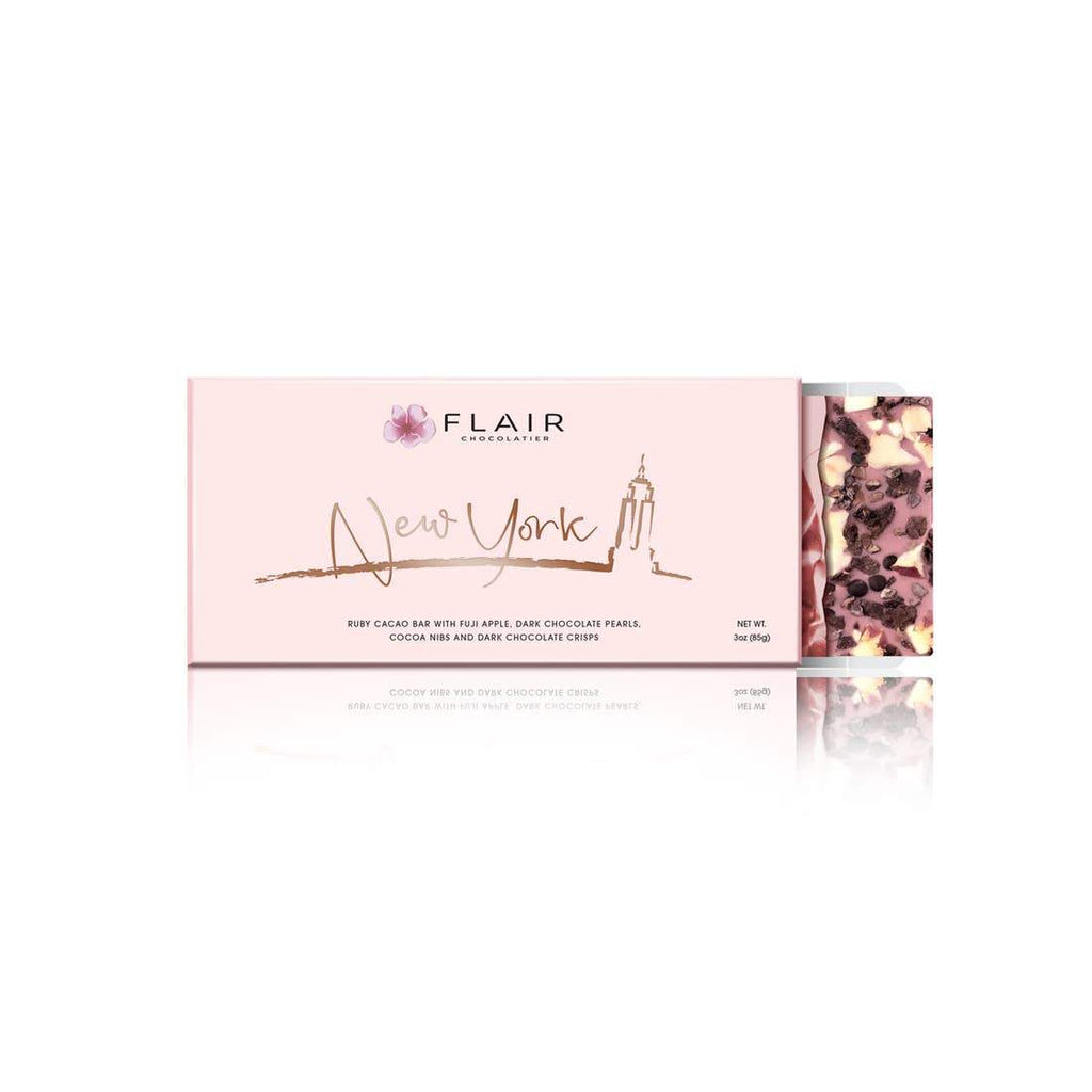 Flair Chocolatier Belgian Ruby Chocolate Bar - New York - Tadpole