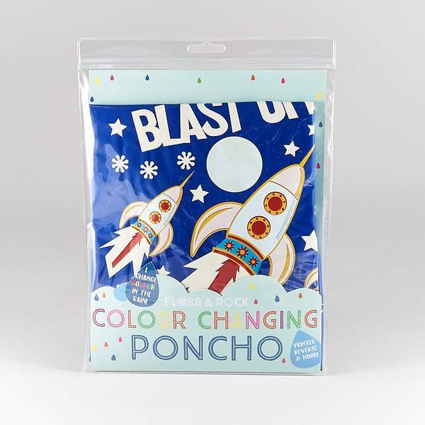 Floss & Rock Changing Color Poncho - Rocket Space - Tadpole
