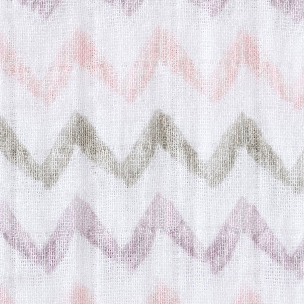 Halo SleepSack Wearable Blanket Muslin Chevron Pink