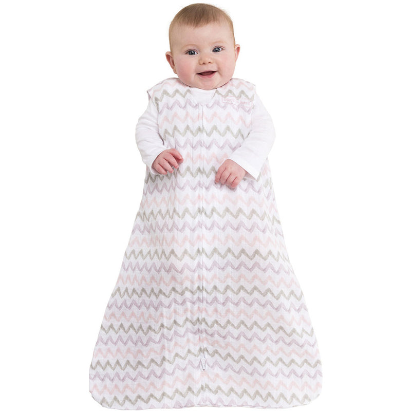 Halo SleepSack Wearable Blanket Muslin Chevron Pink - Tadpole