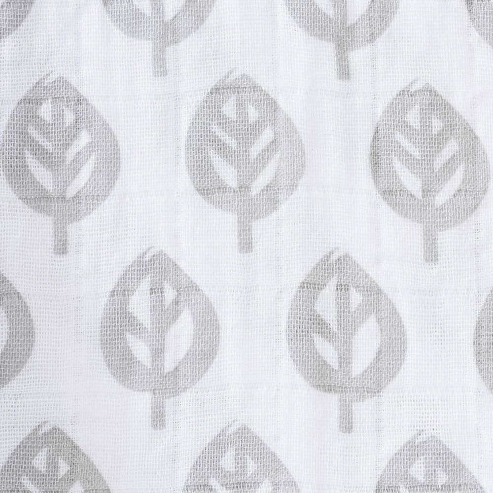 Halo SleepSack Muslin Wearable Blanket Grey Tree Leaf