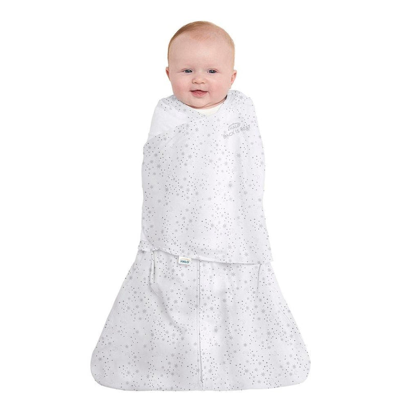 Halo SleepSack Cotton Swaddle - Midnight Moons Gray - Tadpole