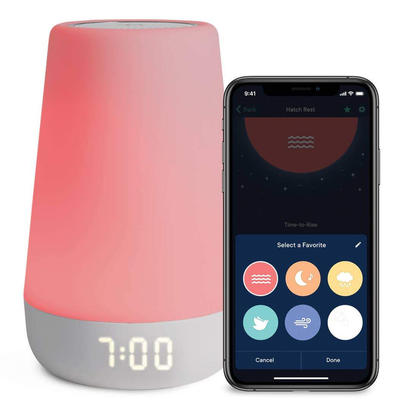 Hatch Rest+ Sound Machine, Night Light, Time-to-Rise & Audio - Tadpole