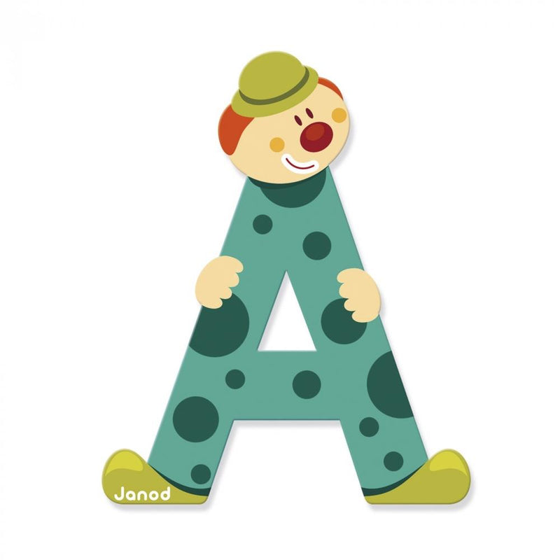 Janod Wooden Clown Letter - Tadpole