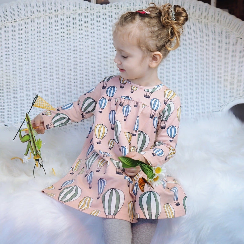 Kidpole Organics Air Balloon Kids Dress - Tadpole