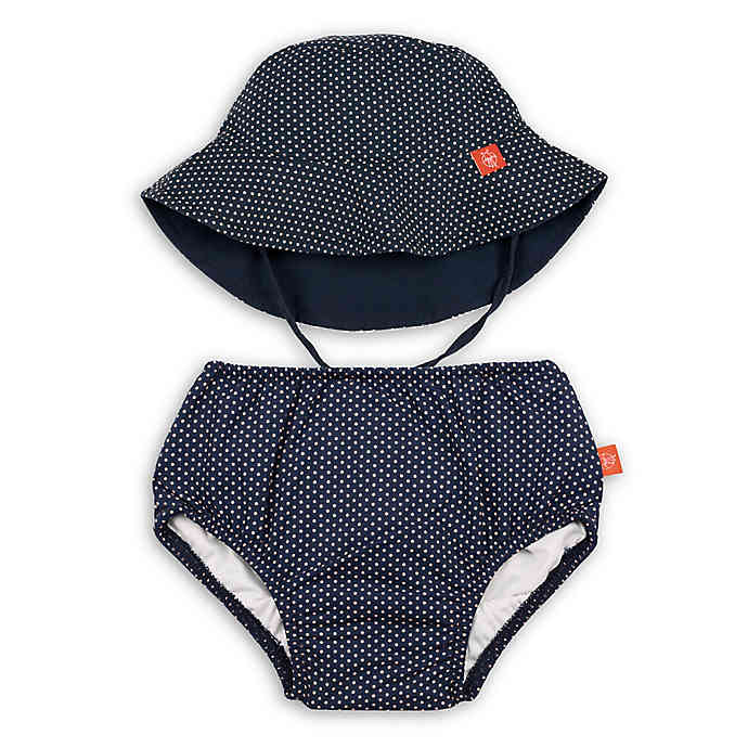 Lassig Swim Diaper & Hat Set Polka Dots Navy - Tadpole