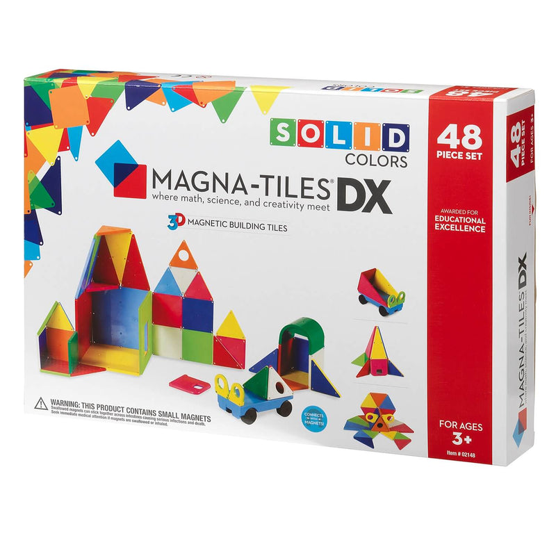 Magna-Tiles Solid Colors 48-Piece Deluxe Set - Tadpole