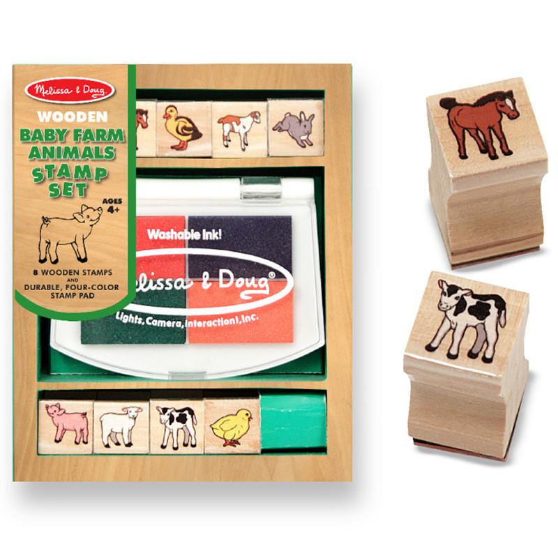 Melissa & Doug Baby Farm Animals Stamp Set - Tadpole