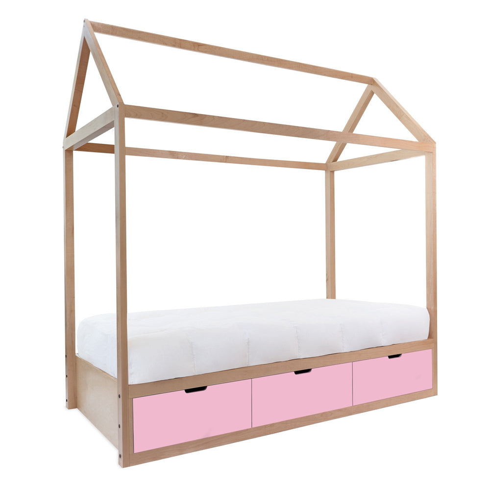 Maple with Pink Drawers