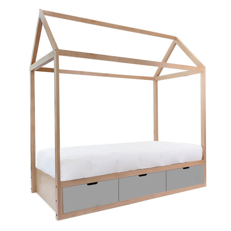 Nico & Yeye Domo Zen Full Bed with Drawers - Tadpole