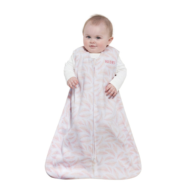 Halo SleepSack Wearable Blanket Pink Leaf Fleece