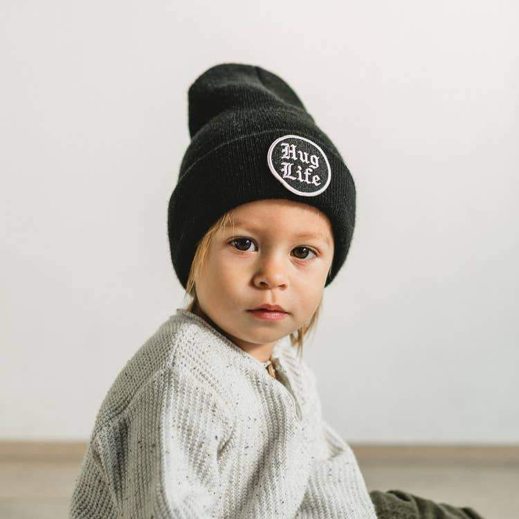 Seaslope Toddler Beanie With Embroidered Patch - Tadpole