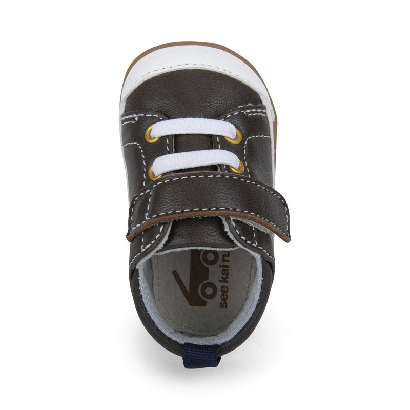 See Kai Run First Walker Stevie II | Brown Leather - Tadpole