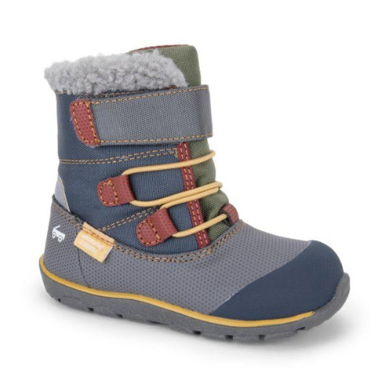 See Kai Run Gilman Waterproof Boots - Gray/Blue - Tadpole