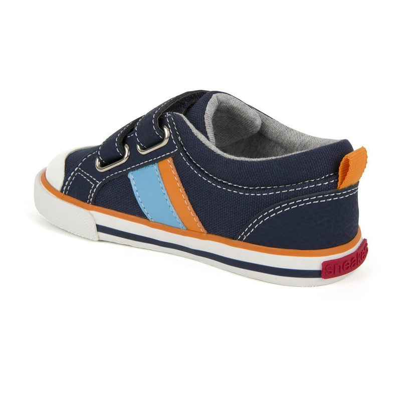 See Kai Run Sneaker Russell Navy/Orange - Tadpole