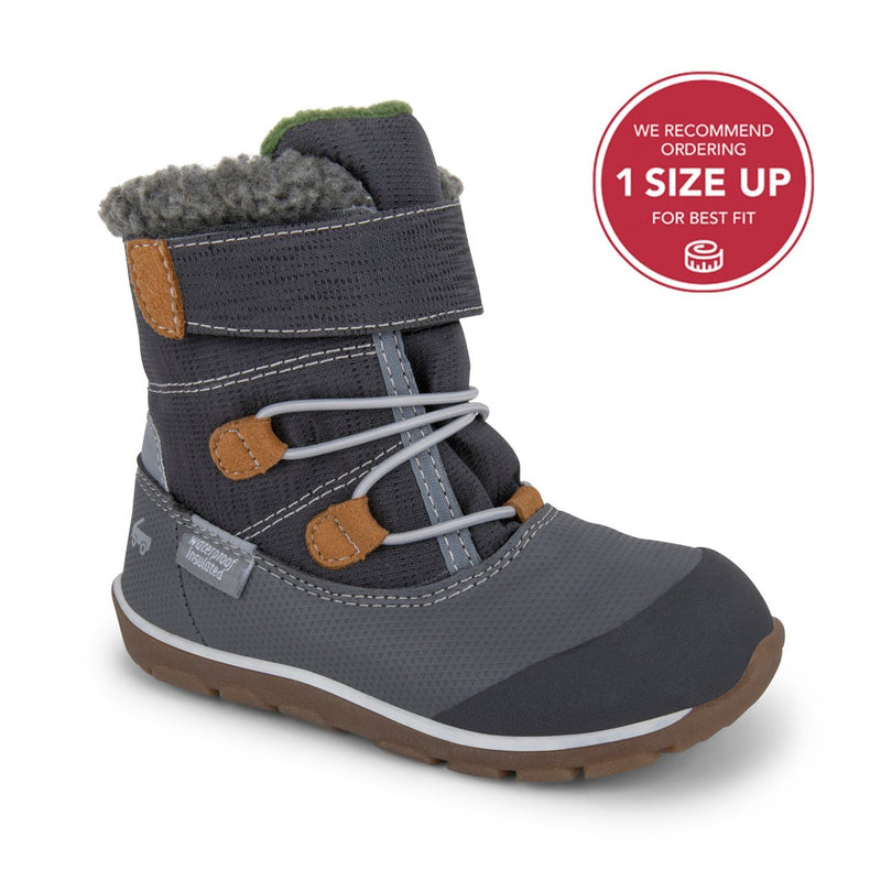 See Kai Run Waterproof Boot Gilman | Gray - Tadpole