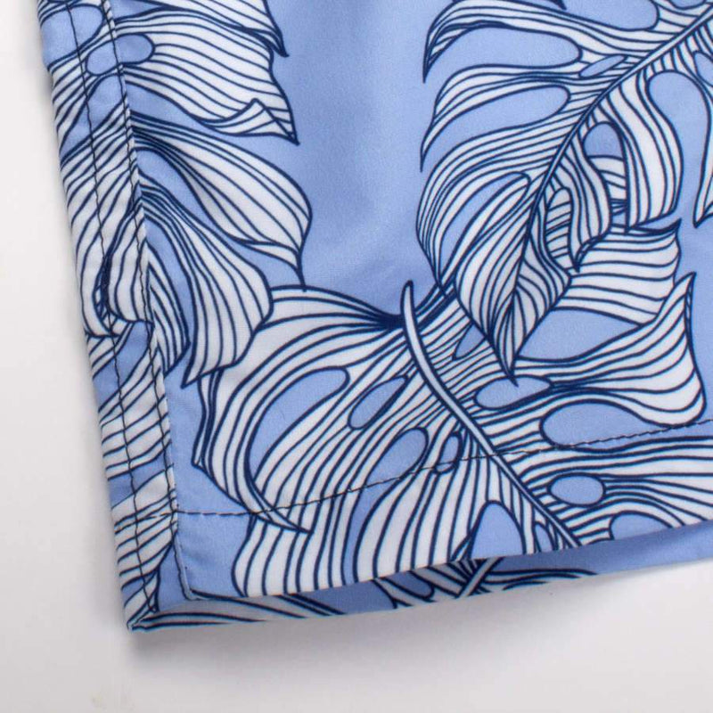 Shade Critters Baby & Boy Swim Trunks - Blue Leaf - Tadpole