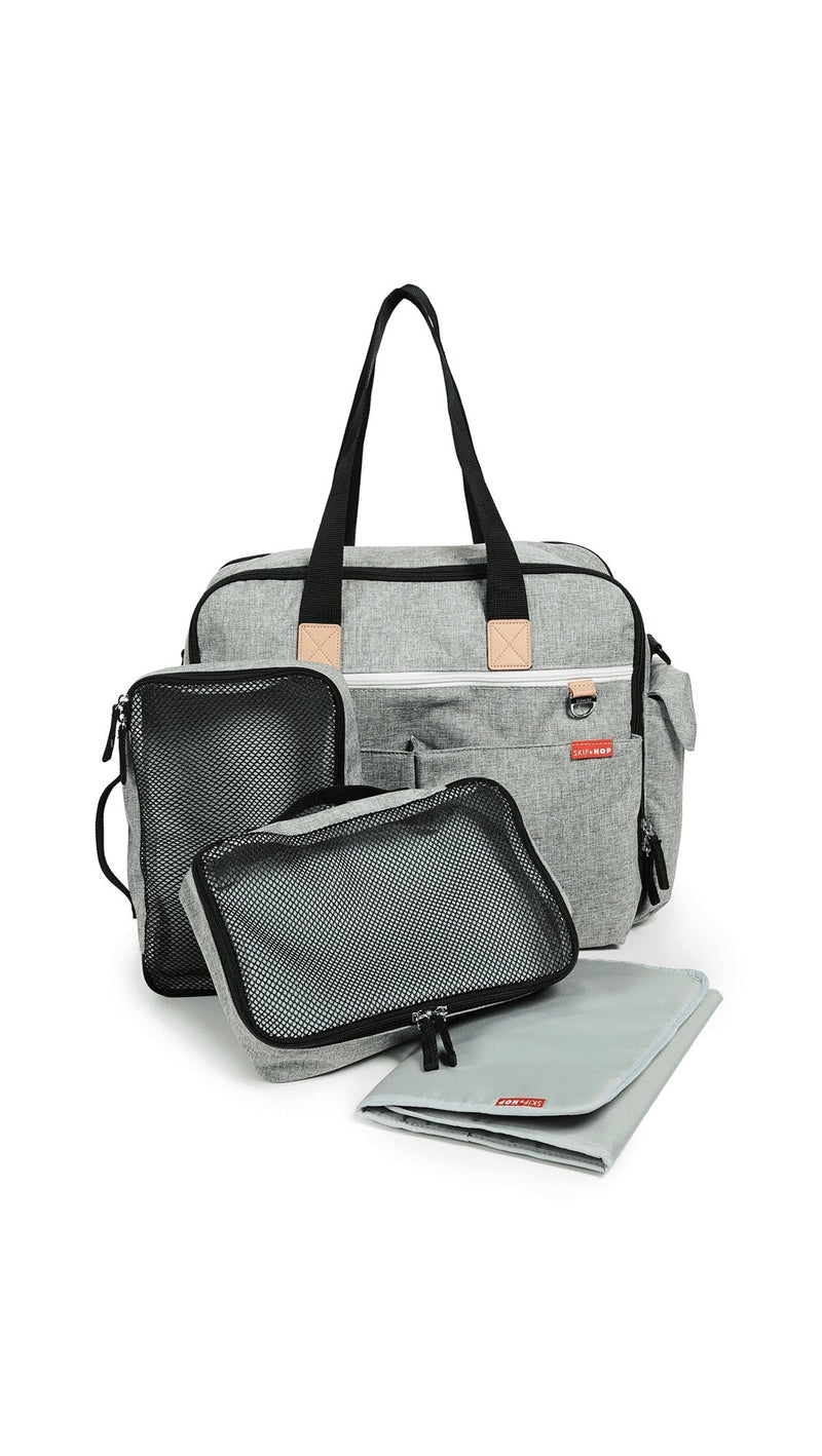 Skip Hop Duo Weekender Diaper Bag - Grey Melange - Tadpole