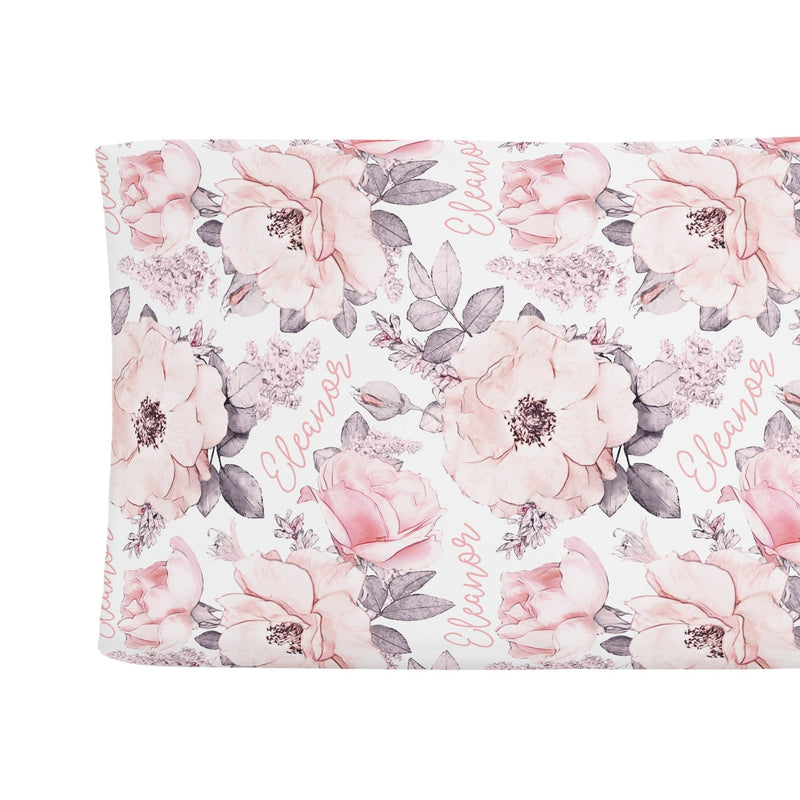 Sugar + Maple Changing Pad Cover - Wallpaper Floral - Tadpole