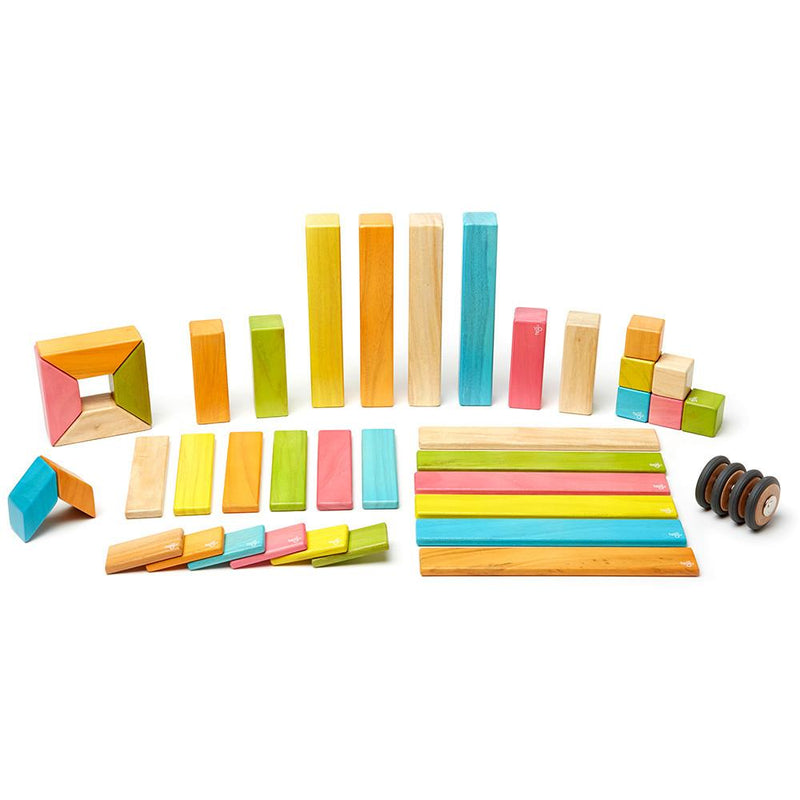 Tegu 42-Piece Magnetic Block Set - Tints - Tadpole