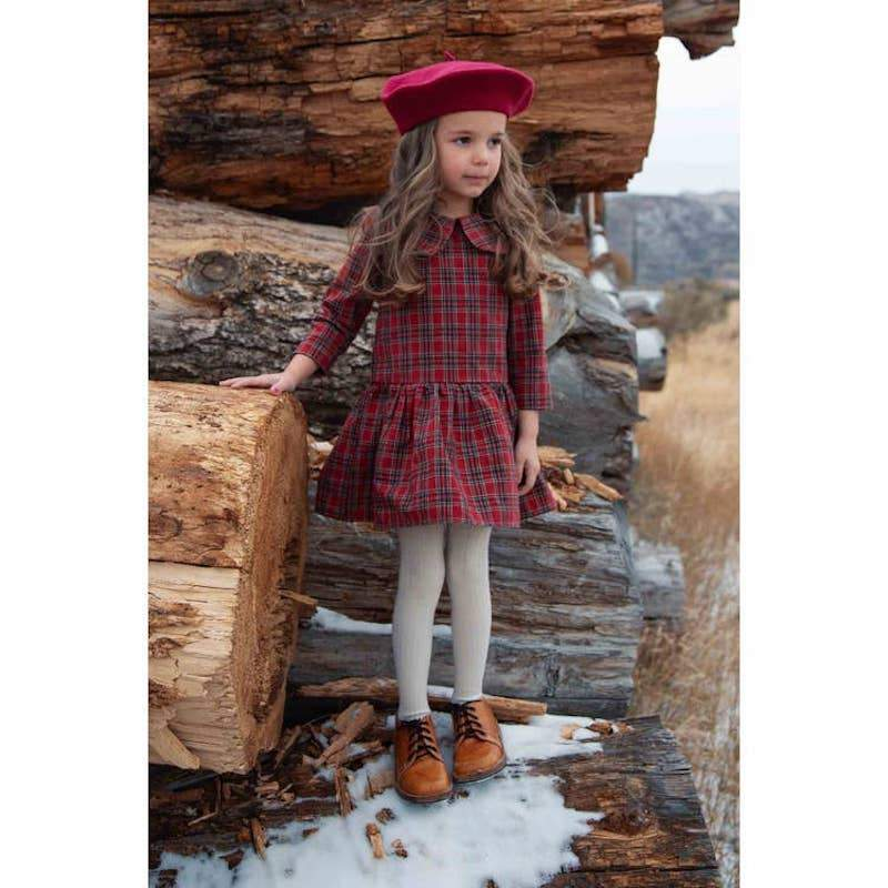 The Louise Red Plaid Dress - Tadpole