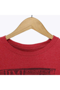 PRINT T-SHIRT / RED [SIZE:L USED] [金沢店]