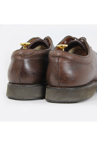MADE IN USA 80'S 310 PLANE TOE LEATHER SHOES / BROWN [SIZE: US8.5E(26.5cm) USED][金沢店]