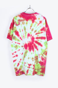 MADE IN USA TIE DYE T-SHIRT / RED/WHITE [SIZE:M USED] [金沢店]