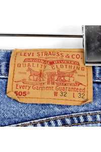 90'S MADE IN USA 505 DENIM PANTS REGULAR FIT / LIGHT BLUE[SIZE:W32 L32 USED] [金沢店]
