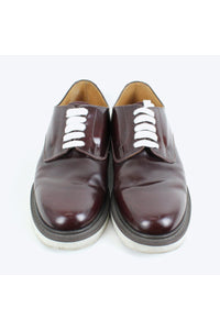 MADE IN ENGLAND SHOEMAKERS COATED LEATHER SHOES / BROWN [SIZE: US8(26cm相当) USED][金沢店]