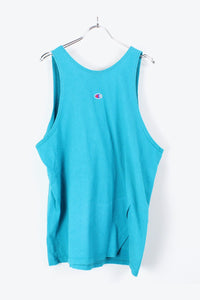 MADE IN USA 90'S TANK TOP / LIGHT BLUE [SIZE:L USED] [金沢店]