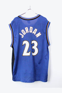 90'S WIZARDS 23 MICHEAEL JORDAN GAME SHIRT / BLUE/BLACK [SIZE:M相当 USED] [金沢店]