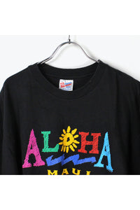 MADE IN USA ALOHA MAUI T-SHIRT / BLACK [SIZE:L USED] [金沢店]
