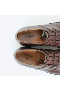 MADE IN ENGLAND 316 SADDLE LEATHER SHOES / BROWN [SIZE: US6.5E(24.5cm相当) USED][金沢店]
