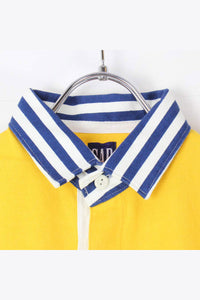 90'S RUGBY SHIRT / YELLOW [SIZE: S DEAD STOCK][金沢店]