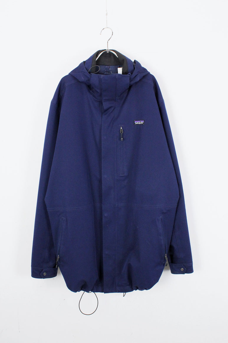 H2NO NYLON ZIP UP HOODIE JACKET / NAVY [SIZE: XL USED]