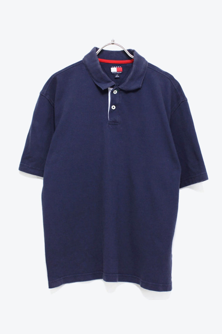 90'S S/S POLO SHIRT / NAVY【SIZE:L USED】【金沢店】