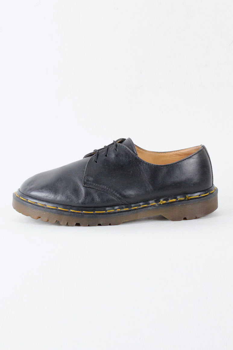 MADE IN ENGLAND 80'S 3 HOLE SHOES / BLACK [SIZE: US8.5(26.5cm相当) USED][金沢店]