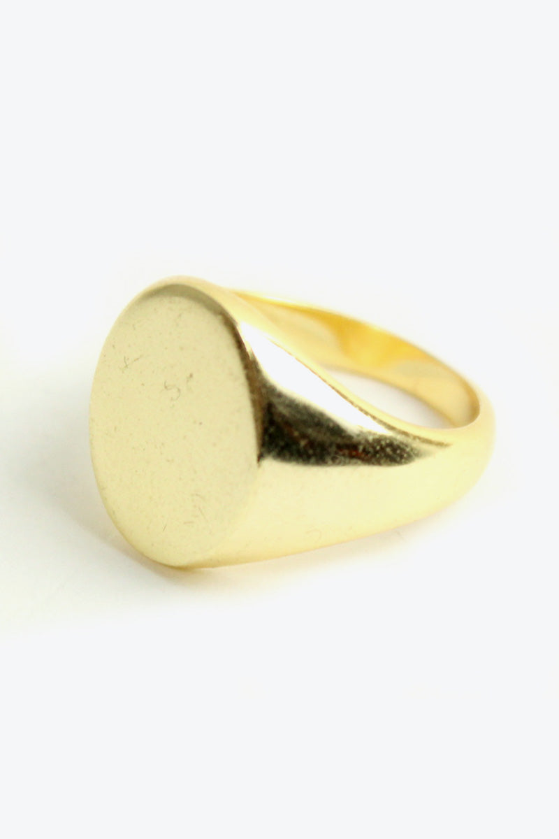 SILVER 925K GOLD PLATED RING [SIZE:19号相当 USED][金沢店]