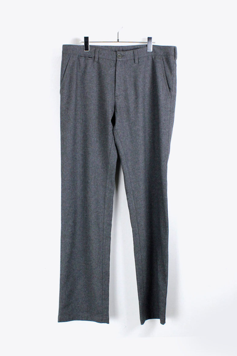MADE IN ITALY WOOL SLACKS PANTS / GREY [SIZE:52 USED][金沢店]