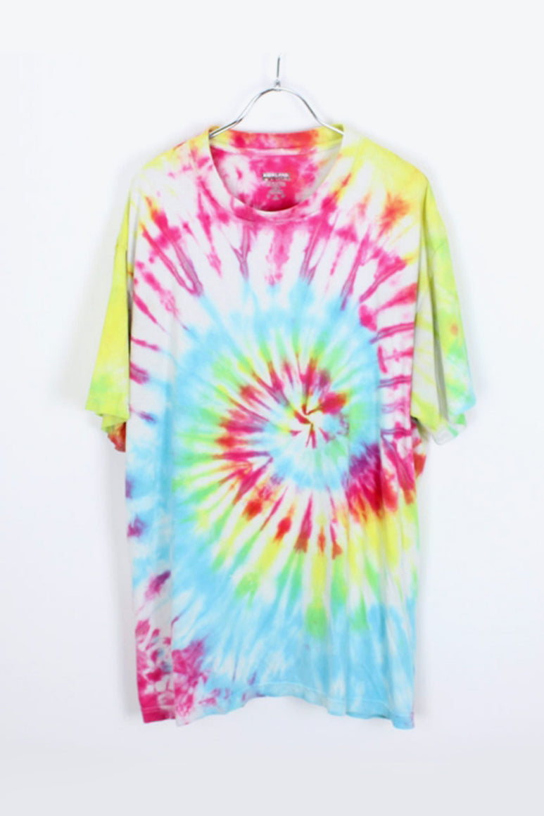 TIE DYE T-SHIRT / PINK/BLUE [SIZE:XL USED] [金沢店]