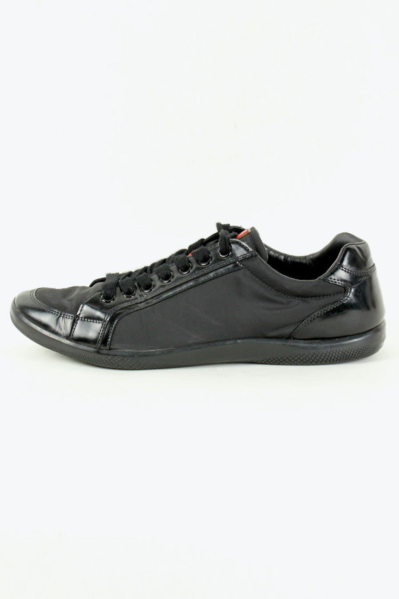 MADE IN ITALY NYLON SNEAKERS / BLACK [SIZE: US10(28cm) USED][金沢店]